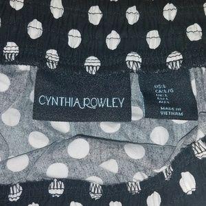 Cynthia Rowley Skirts - Black/White Polka Dot Midi Skirt